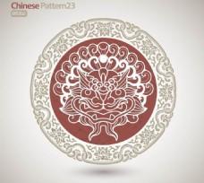 中国龙花纹