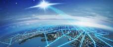 城市科技大气背景