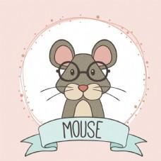 手绘智力鼠