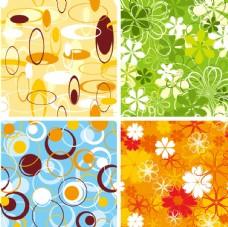 矢量歐美創意背景花紋圖案
