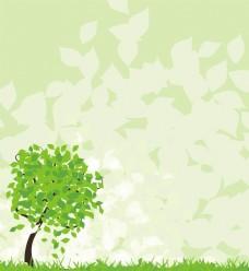 绿色海报 卡通展板