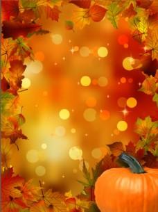 枫叶背景 秋季海报