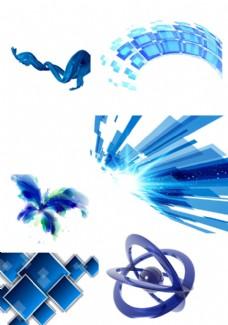 蓝色科技素材