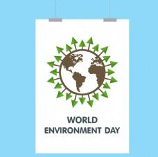 世界环境日海报与地球