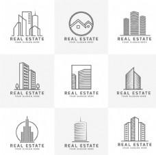 现代房地产标志
