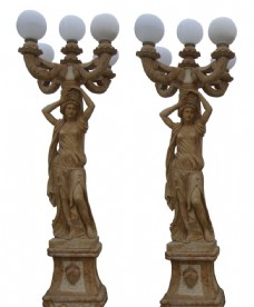 歐式雕塑路燈