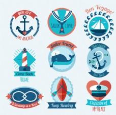 漂亮航海徽章