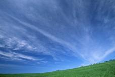 绿地蓝天风景