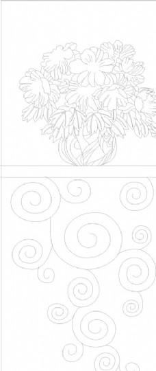 牡丹花矢量图