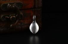 纯银隔珠散珠隔片光面卡子记数器