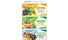 蔬果超市 宣传 色彩 绿色 新