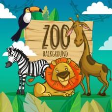 动物园背景