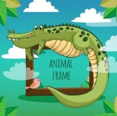 愉快的鳄鱼框架
