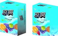 饮料包装盒立体效果图