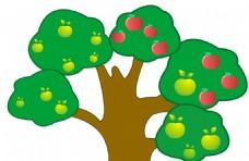幼儿园卡通树