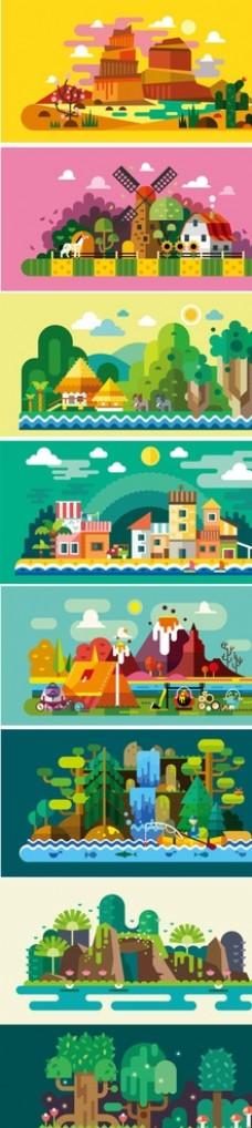 卡通旅游素材设计