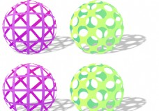 镂空球logo