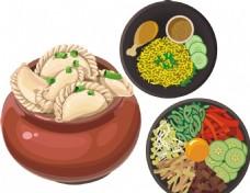 手绘饺子 韩国料理