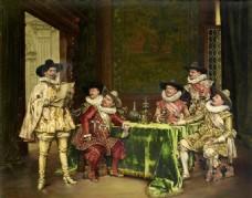 欧式宫廷人物油画