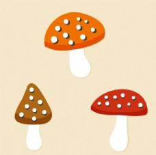 蘑菇矢量素材