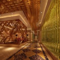 走廊效果图模型