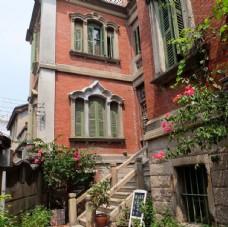 鼓浪屿的风景 鲜花 楼梯