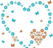 硅藻泥花纹 爱心花瓣