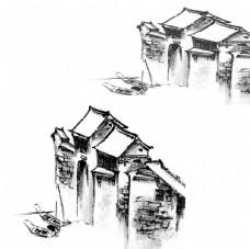 中國風南方古典塔樓樓房PS素材