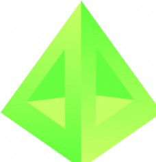 立体三角 logo