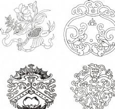 古代花纹 莲花