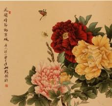 国色天香 工笔牡丹