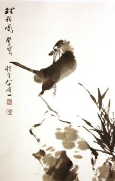 理羽图   国画  鸟