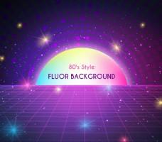 紫色网格光效背景矢量图