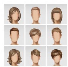美发与肤色模板