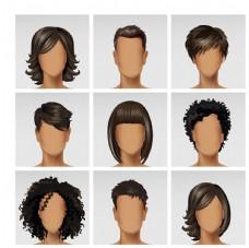 深色皮肤黑色头发搭配