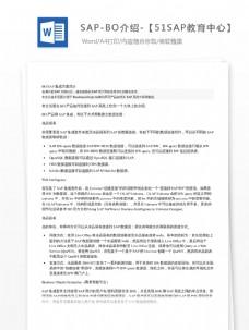 SAP-BO介绍-【51SAP教育中心】
