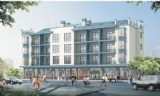 公寓建筑设计透视图片