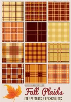 12款橙色复古风格布纹背景PS图案