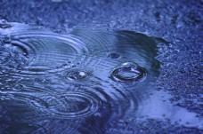 雨天地上的水纹图片