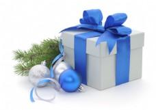 圣诞球与礼物盒图片