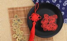传统工艺品中国结剪纸