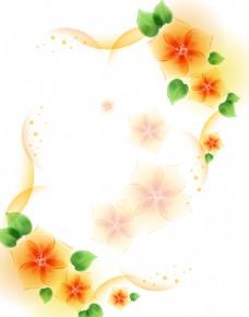 花卉边框背景墙