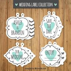 复古婚礼贴纸包