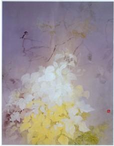 手绘植物背景素材图片