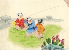 放风筝的儿童图片