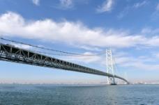 雄伟绵长的海上桥梁风景图片