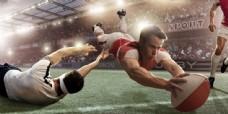 橄榄球赛图片