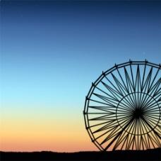 夕阳风景画