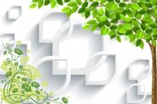 树叶花藤装饰画