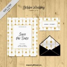 金色细节婚礼文具